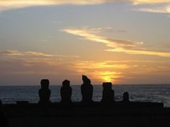 Moai@Sunset