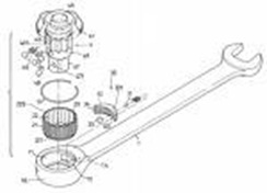 ratchet wrench end patent diagram